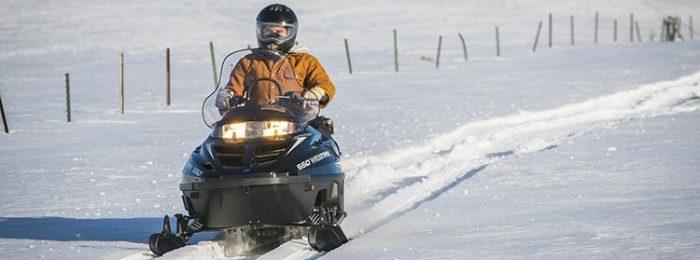 Обучение вождению снегохода