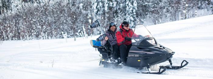 Права на снегоход, обучение